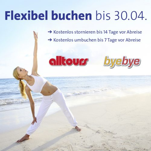 Flexibel buchen bei alltours